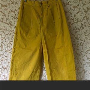 High Waisted Yellow Pants by Henrik Vibskov